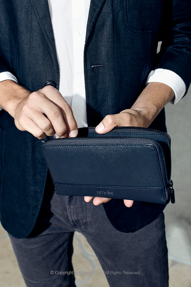 article: #230 Wallet Men - Indigo