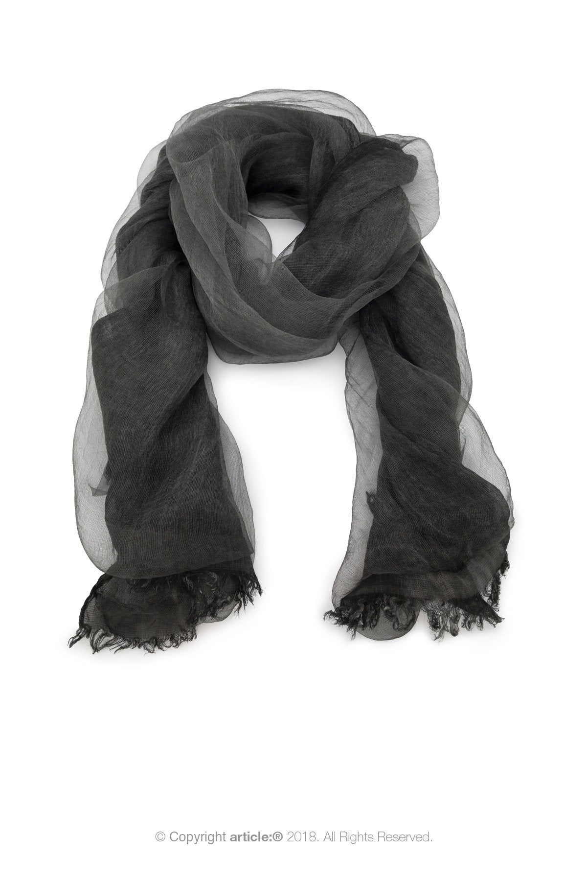 article: #900 Scarf / Wrap - Anthracite