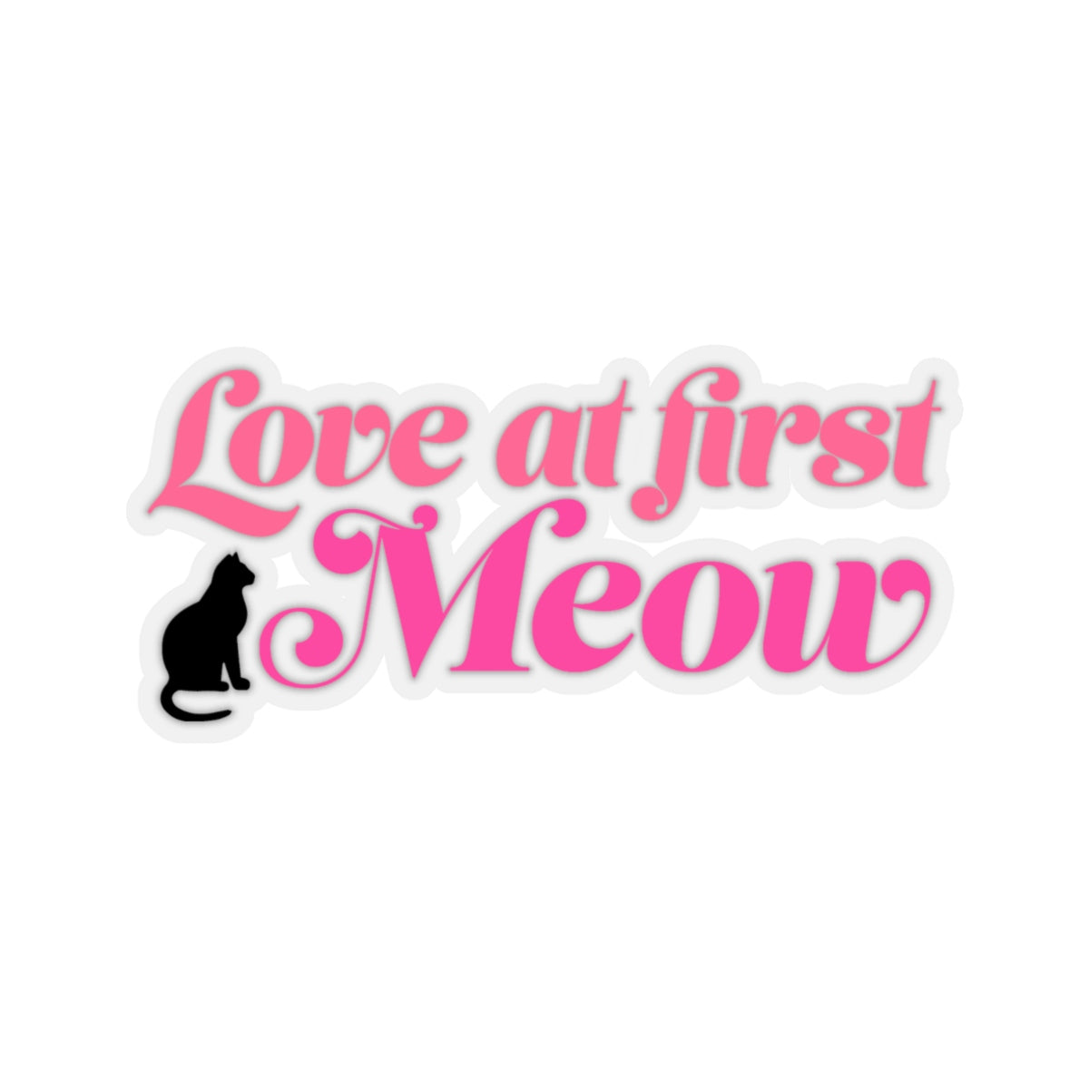 Love At First Meow Sticker