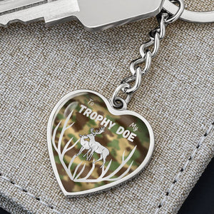 To My Trophy Doe Heart Keychain Transparent Image