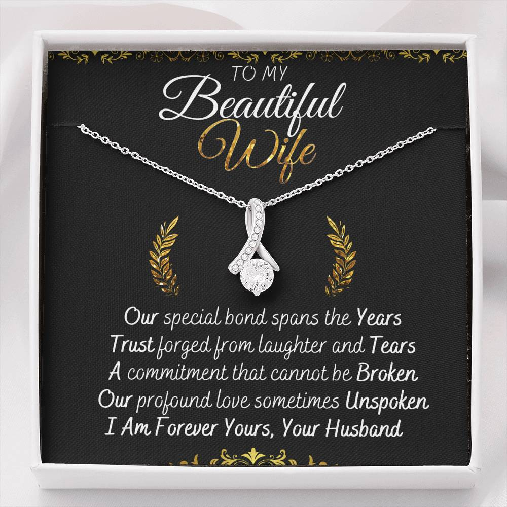 "To My Beautiful Wife ""Special Bond"" Necklace"
