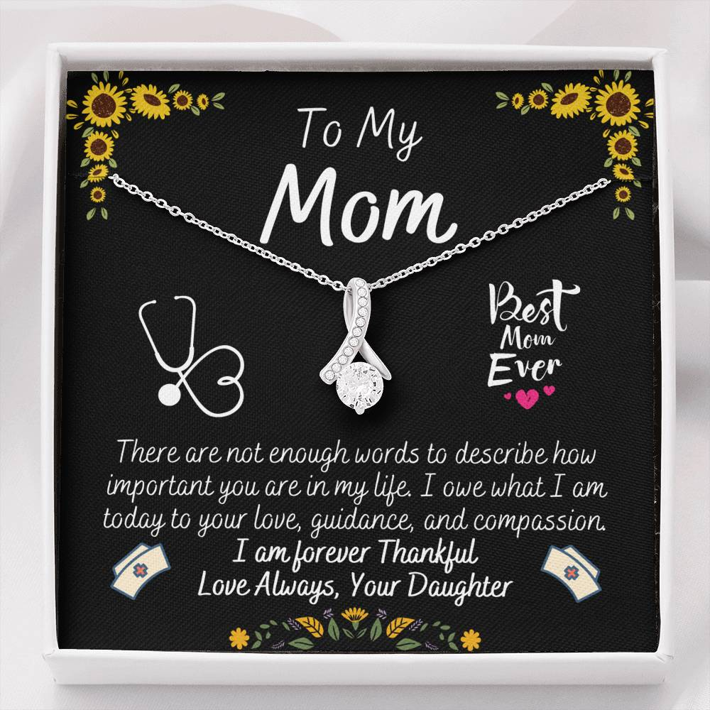 To My Mom Sunflower Alluring Beauty Necklace