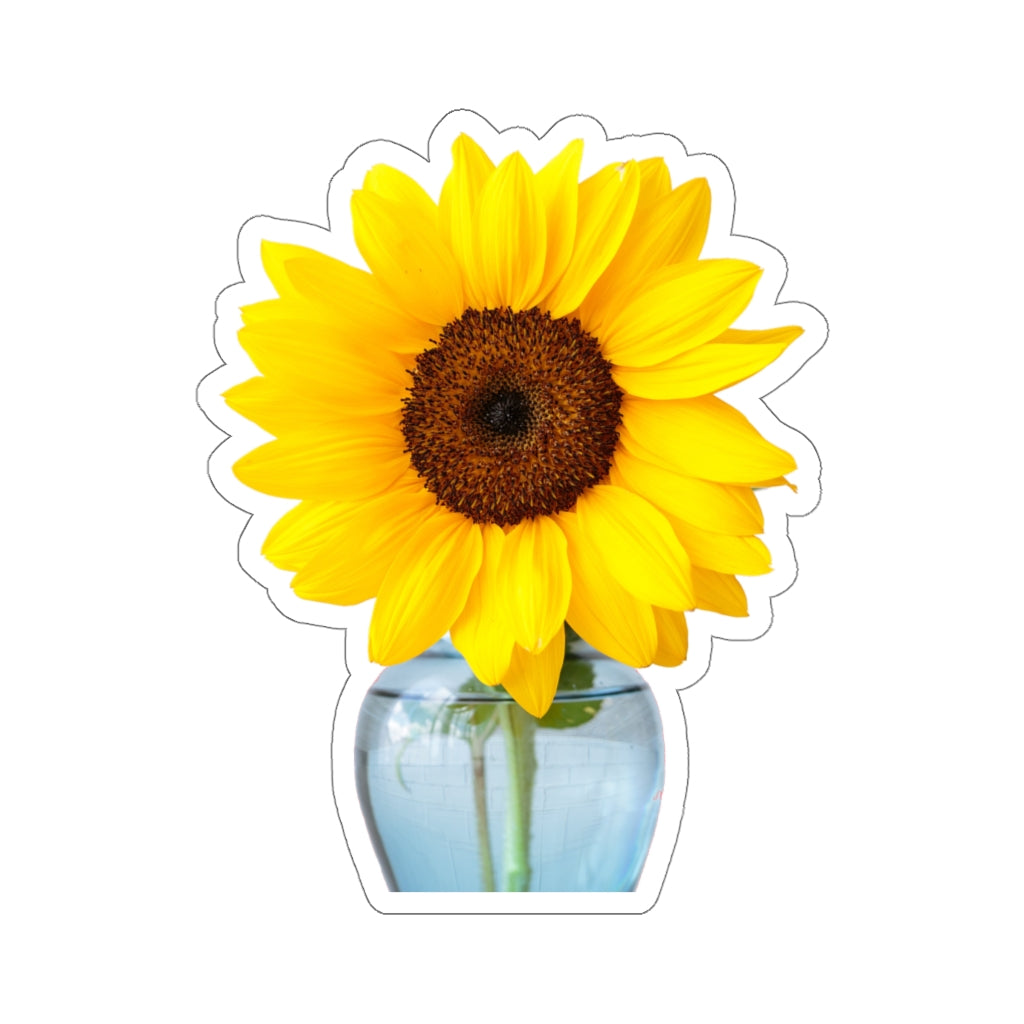Sunflower In Vase Kiss-Cut Stickers