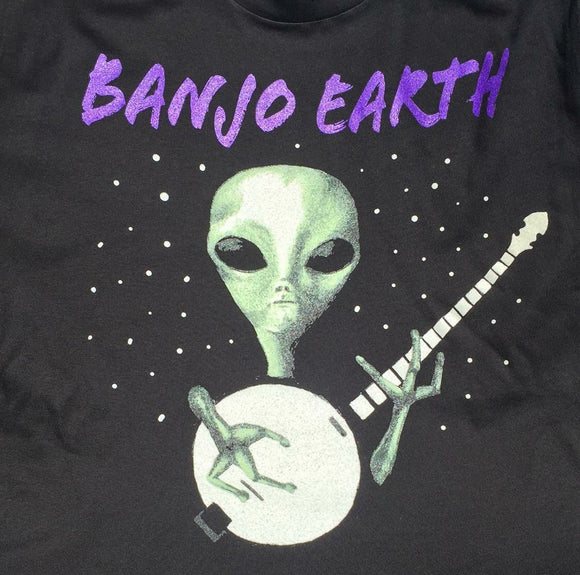 Banjo Earth Glow-In-The-Dark Alien T-Shirt