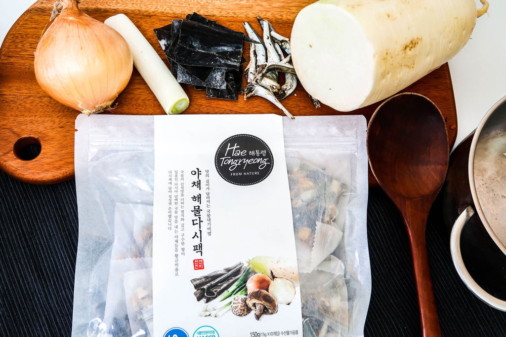 Hae Tongryeong Veggie & Seafood Dashima Broth Pack