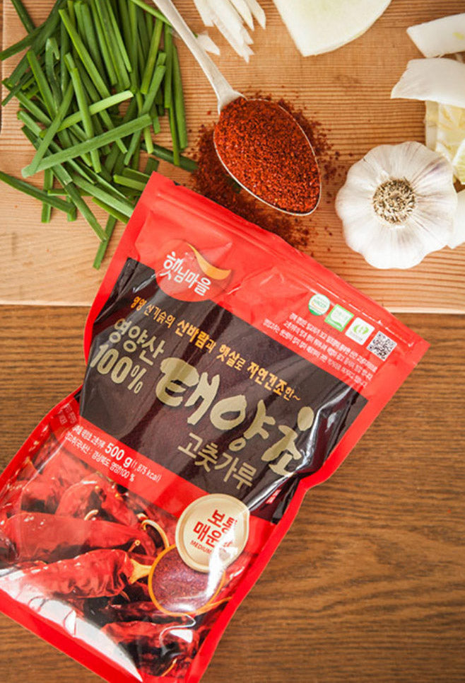 [Haetnim Maeul] 100% Sun-Dried Taeyang Gochugaru (Great for Kimchi)