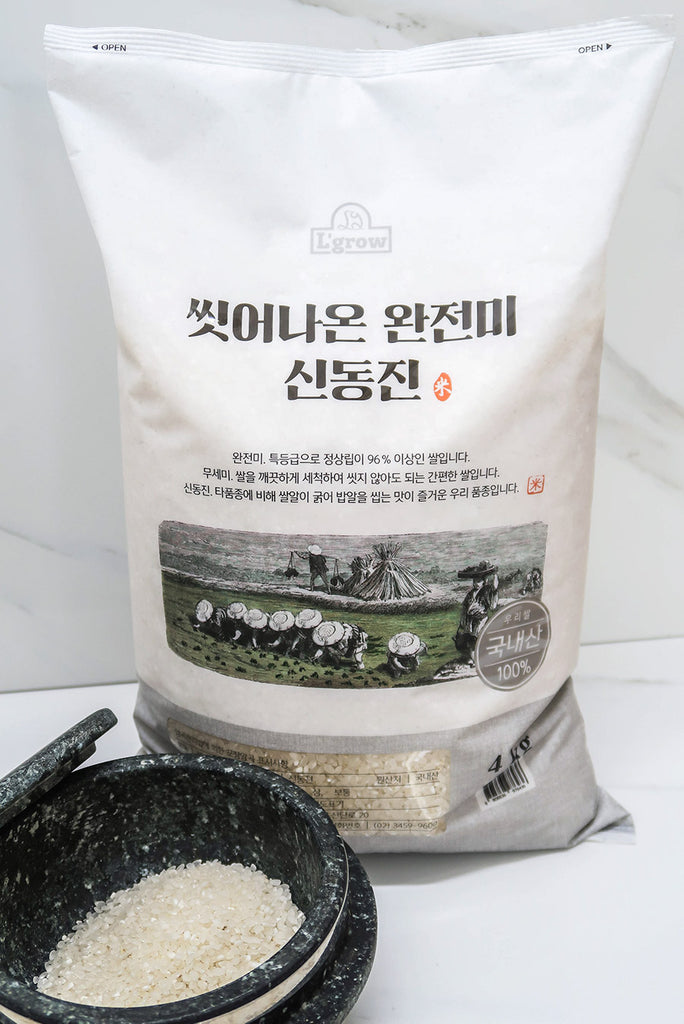 Premium Shin Dong Jin, Korean White Rice (4kg Large Bag)