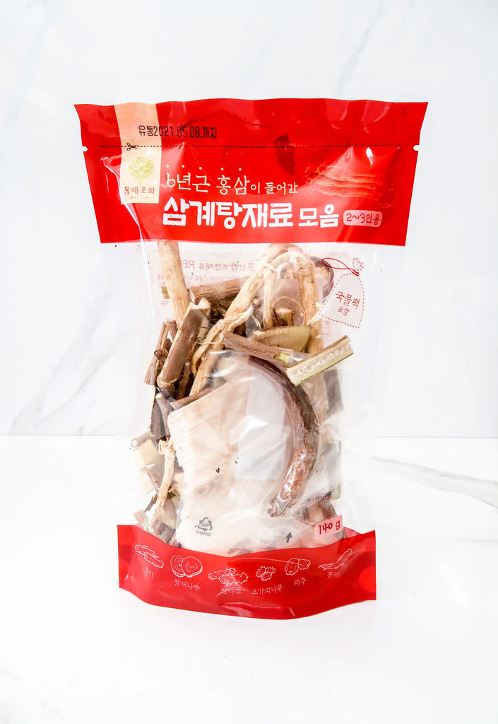 Samgyetang Broth Pack with 6-Year-Old Red Ginseng (3 Packs)