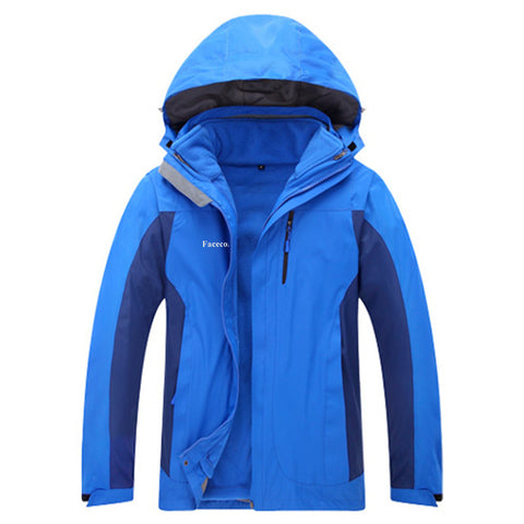 2 Pieces Fleeced Outdoor Jacket
