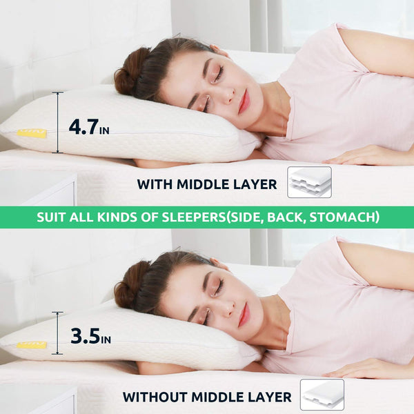 UTTU Queen Sandwich Memory Foam Pillow