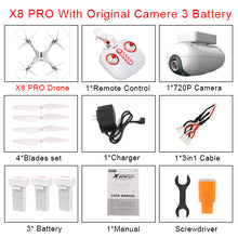 SYMA X8PRO GPS DRON FPV Drone With 720P Camera or 4K Wifi Camera 2.4G 6Axis RTF Altitude Hold x8 pro RC Quadcopter Helicopter