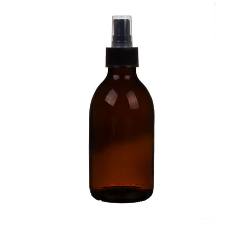200ml amber bottle black spritzer