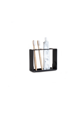 Compact toothbrush stand