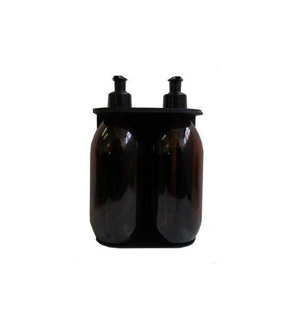 Double Dispenser with Amber bottle (500ml)