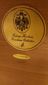 "The Franklin Mint ""Faberge Heirloom"" standing Mahogany Jewelry Cabinet"