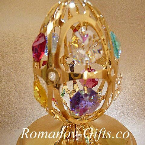 Gold Music Box OZ Easter EGG, Multi & matching Pendant necklace