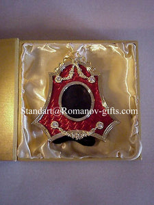 Russian Imperial Ruby Red Photo Frame