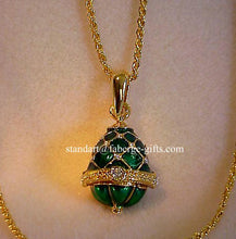 Royal Princess Anastasia Emerald Egg Pendant Necklace