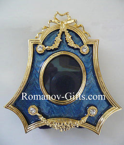 Russian Imperial Wedgewood Blue Photo Frame