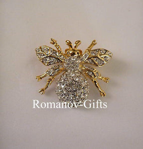 Empress Marie Diamond Crystal Bumble Bee Brooch