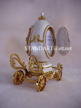 Royal Wedding Musical Carriage Egg Collectible with Pendant Necklace