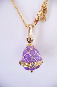 Easter Royal Princess Anastasia Lilac Egg Pendant Necklace
