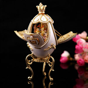 Russian Imperial Empress Musical Carousel Egg plays Fur Elise, pendant necklace