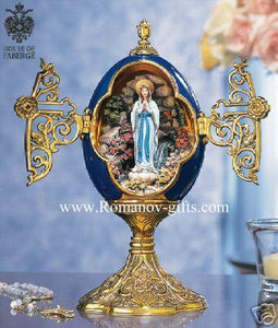 "House of Faberge "" Our Lady of Lourdes"" Easter Egg"