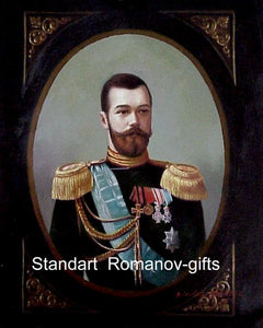 Oil Painting Tsar Nicolas II Romanov      Russian Imperial   signed