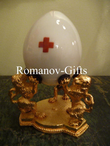 Russian Imperial Porcelain Alexandra Red Cross 1914 Egg