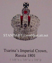 Russian Imperial Crown Tsarina Alexandra 1801 with presentation case Miniature