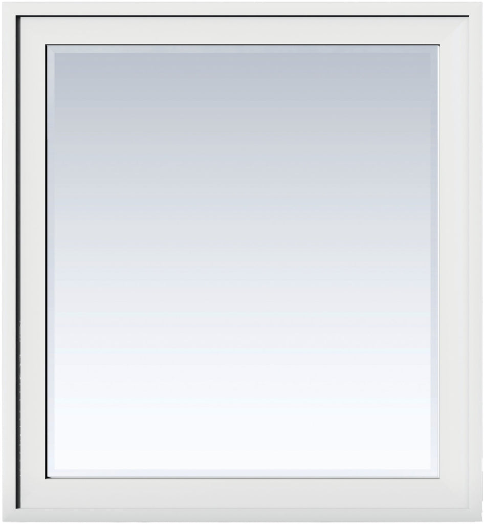"Addison 36"" Rectangular Mirror, Glossy White"