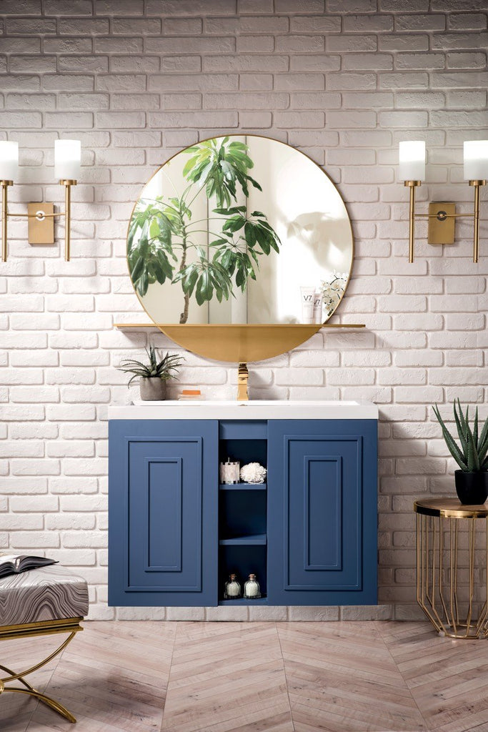 "Alicante' 39.5"" Single Vanity Cabinet, Azure Blue"