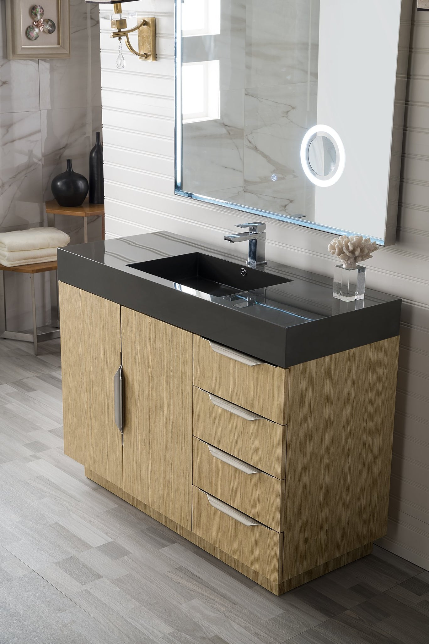 "Bainbridge 48"" Single Vanity, Tribeca Oak Single Bathroom Vanity James Martin Vanities"