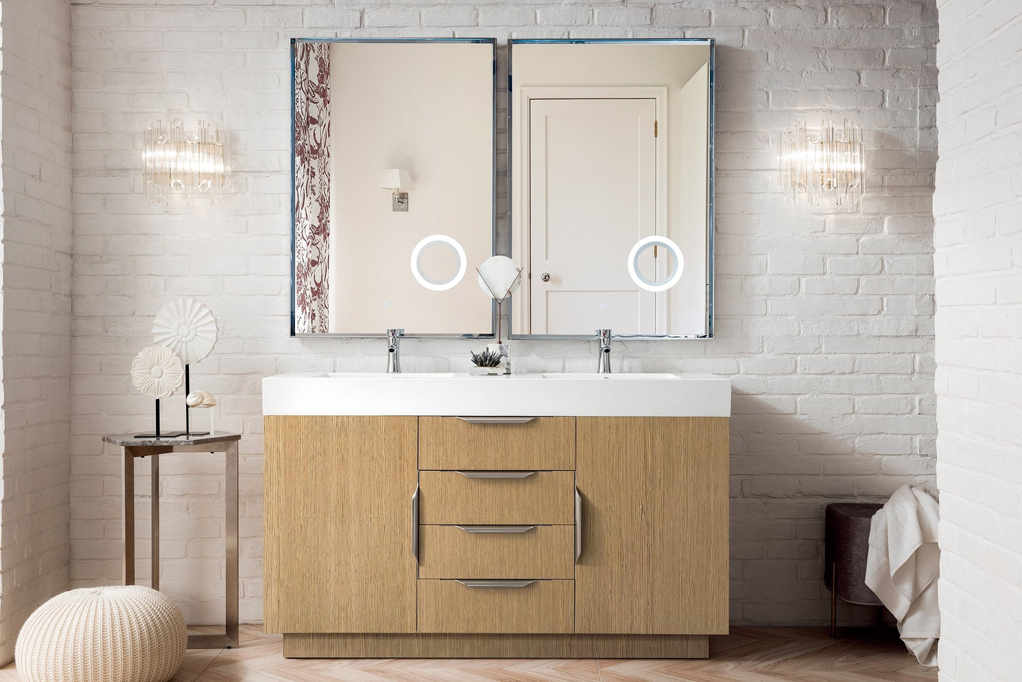 "Bainbridge 59"" Double Vanity, Tribeca Oak Double bathroom Vanity James Martin Vanities"