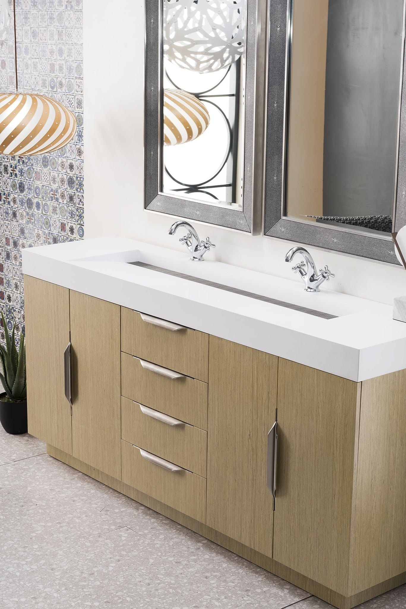 "Bainbridge 72"" Double Vanity, Tribeca Oak Double bathroom Vanity James Martin Vanities"