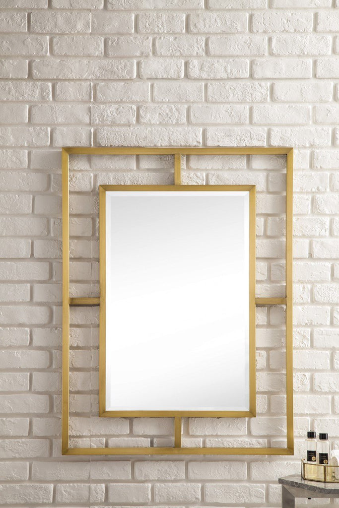 "Boston 30"" Rectangular Mirror, Radiant Gold"