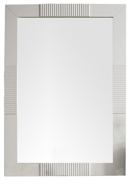 "Brisbane 30"" Rectangular Mirror, Bright White Mirror James Martin Vanities"