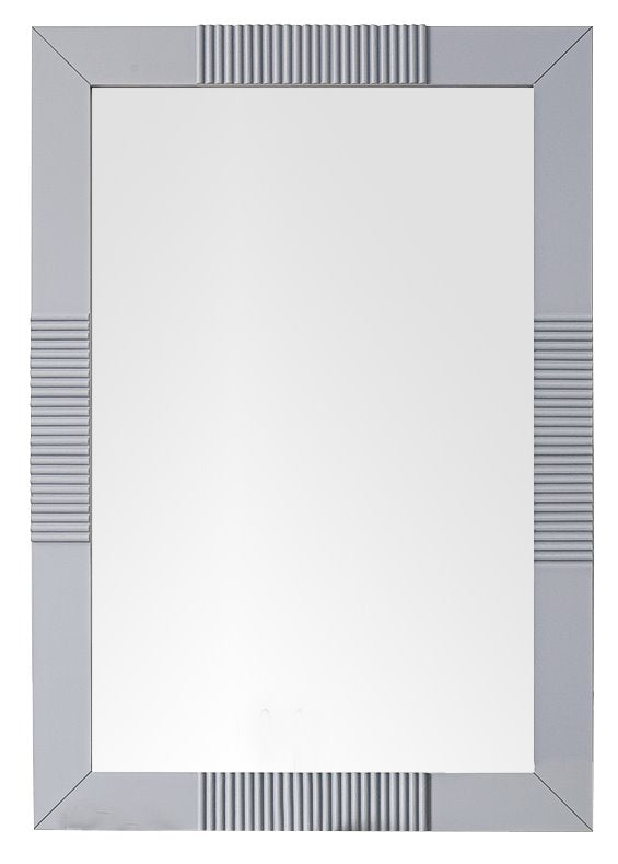 "Brisbane 30"" Rectangular Mirror, Silver Gray"