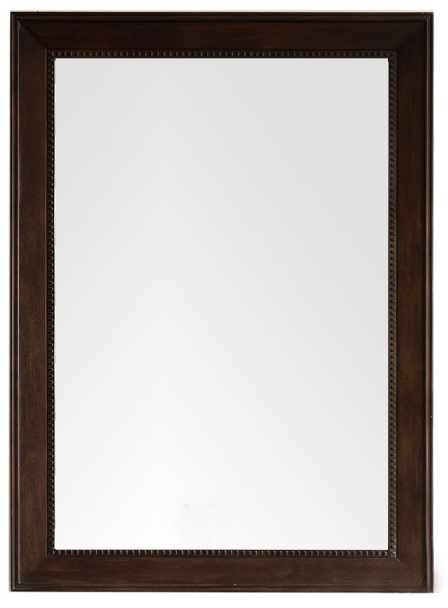 "Bristol 29"" Rectangular Mirror, Burnished Mahogany Mirror James Martin Vanities"
