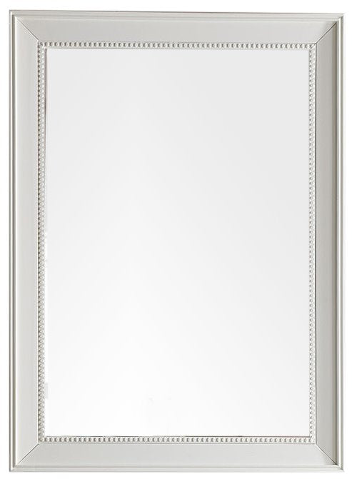 "Bristol 29"" Rectangular Mirror, Cottage White Mirror James Martin Vanities"