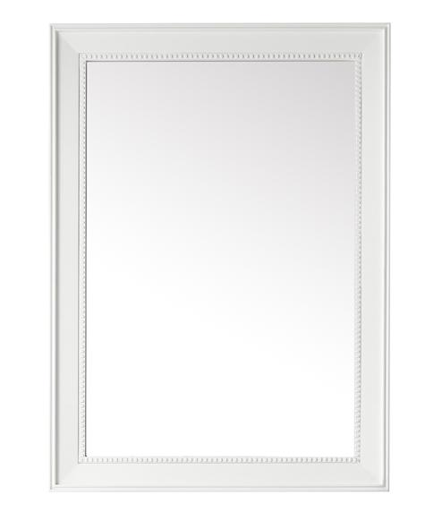 "Bristol 29"" Rectangular Mirror, Glossy White"