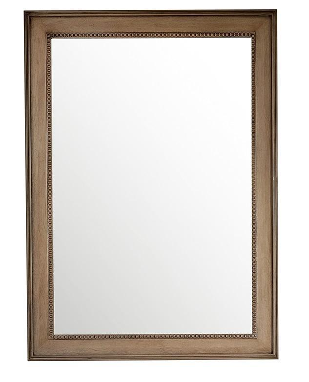 "Bristol 29"" Rectangular Mirror, White Washed Walnut Mirror James Martin Vanities"
