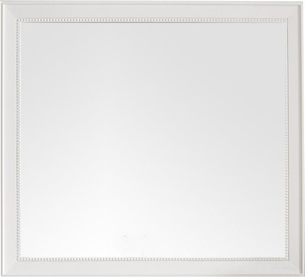 "Bristol 44"" Rectangular Mirror, Bright White"