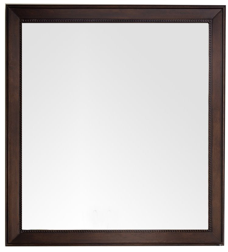 "Bristol 44"" Rectangular Mirror, Burnished Mahogany"