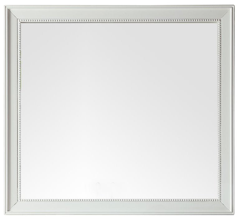 "Bristol 44"" Rectangular Mirror, Cottage White"