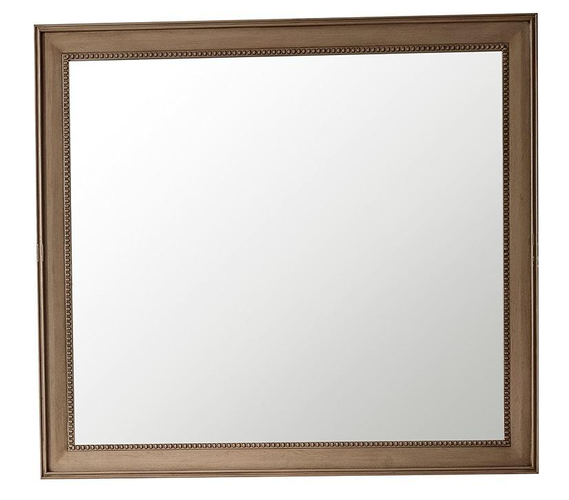 "Bristol 44"" Rectangular Mirror, White Washed Walnut"