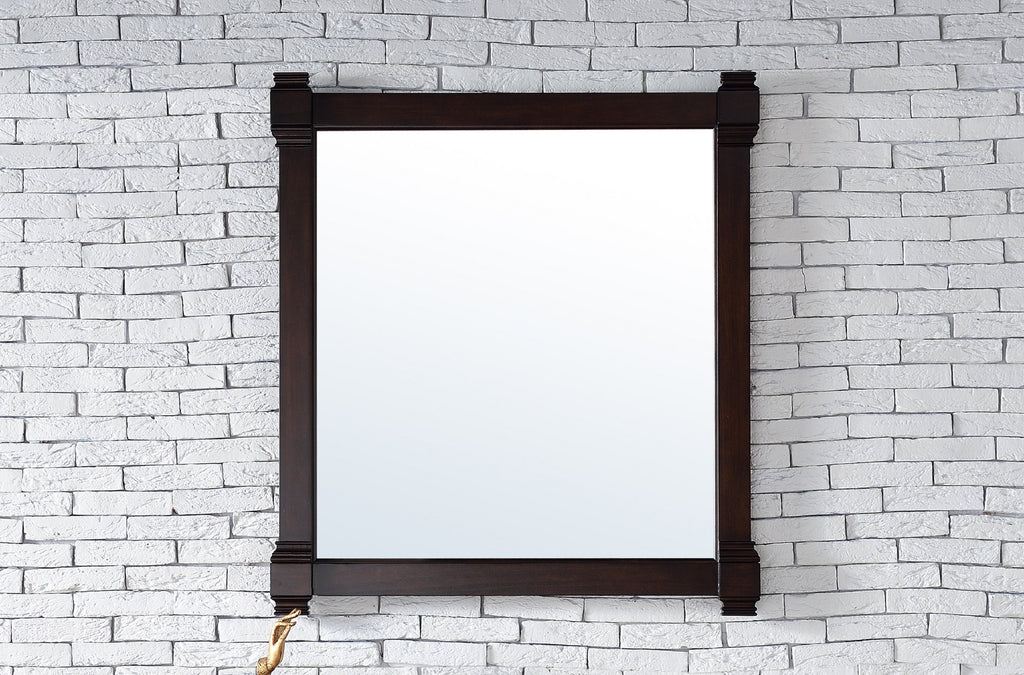 "Brittany 35"" Mirror, Burnished Mahogany"