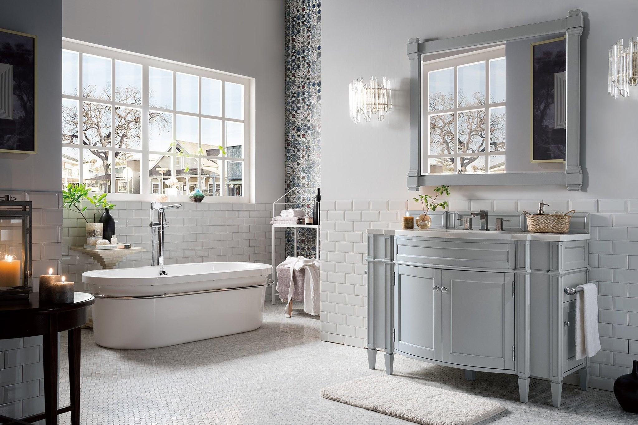 "Brittany 46"" Single Bathroom Vanity Single Bathroom Vanity James Martin Vanities"