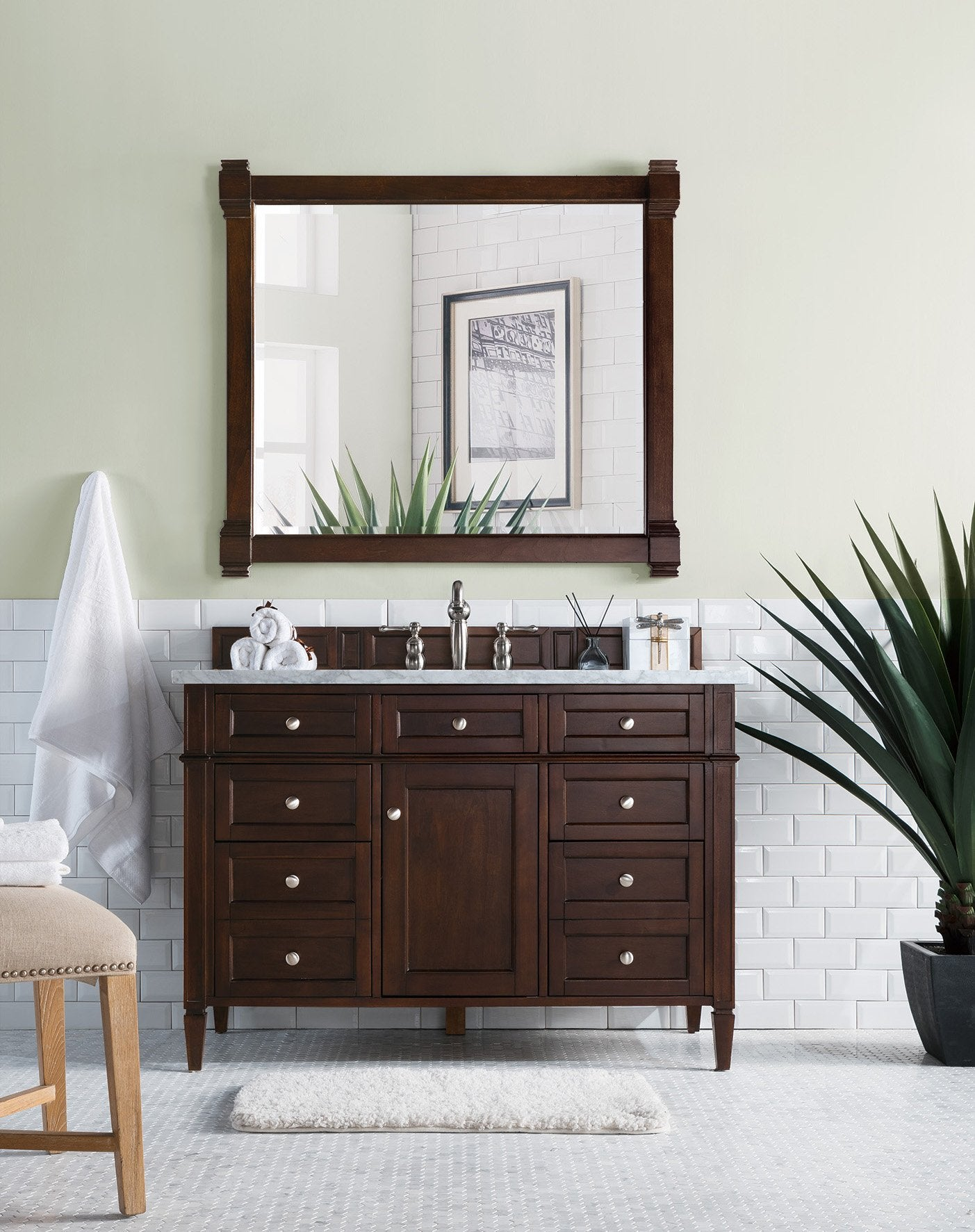 "Brittany 48"" Single Bathroom Vanity Single Bathroom Vanity James Martin Vanities"